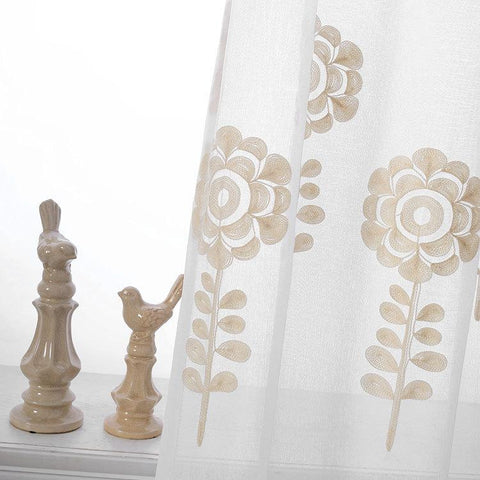 Flower Embroidered Curtains For Living Room Tulle Volie Sheer Window Curtain Rideaux Pour Le Salon Cortinas Para Sala De Luxo 48