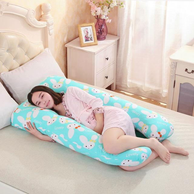 $60.30- 130*70Cm Pregnancy Comfortable U Shape Maternity Pillows Body Cartoon Pregnancy Pillow Women Pregnant Side Sleepers Cushion