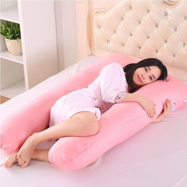 130*70Cm Body Pillows Sleeping Pregnancy Pillow Belly Contoured Maternity U Shaped Removable Cover Pregnant Comfortable Cushion