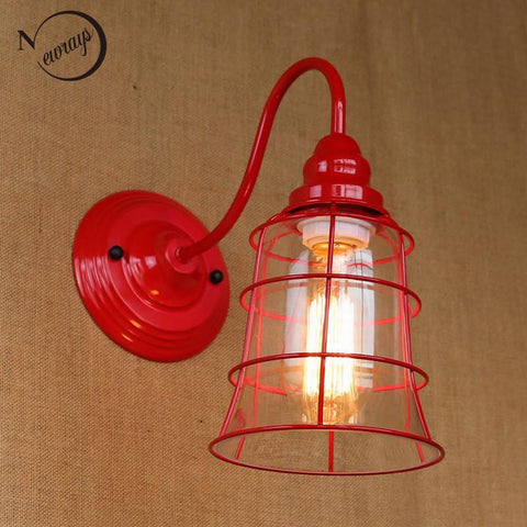 $69.97- Replica Designer Fashional Style Mini Red Colour Glass Shade Wall Light Lamp Sconce Lamp Porch Light Fixtures