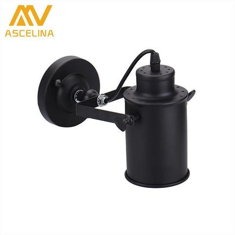 Ascelina Wall Lamp American Retro Country Loft Style Led Lamps Industrial Vintage Iron Wall Light For Bar Cafe Home Lighting