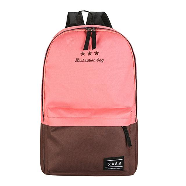 $16.49- Casual Polyester Fiber Women Backpack Children Backpack School Bags For Teenager Girls Laptop Trave Rucksack Mochila Escolar