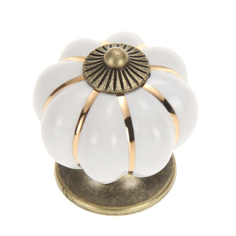 Vintage Pumpkin Cabinet Knobs Handles Door Drawer Cabinet Wardrobe Pull Handle Knobs hook Kitchen Furniture Wardrobe Hardware