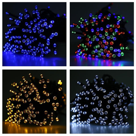 $29.14- Led String Light 22M 200 Leds Solar Sun Powered String Light Outdoor Fairy Lamp Waterproof Outdoor Decoration Light Christmas Lights