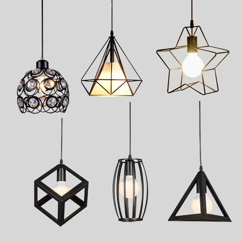$45.86- Modern Pendant Lights Minimalist Restaurant Lamps North American Industrial Pendant Lamp Dining Room Decoration Lghting E27