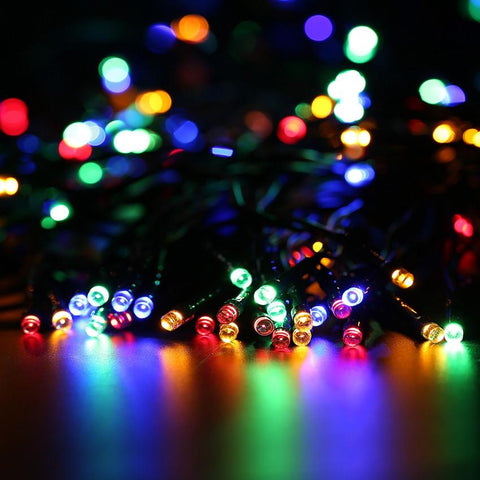 $39.58- Litom Solar Sun 200 Led String Light 72.18 Feet Waterproof MultiColor Decorative Light W/ 8 Working Modes For Party Decoration