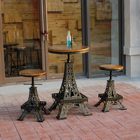 Restore Ancient Ways Wrought Iron Do Old Paris Eiffel Tower Lift The Bar Tables Chairs