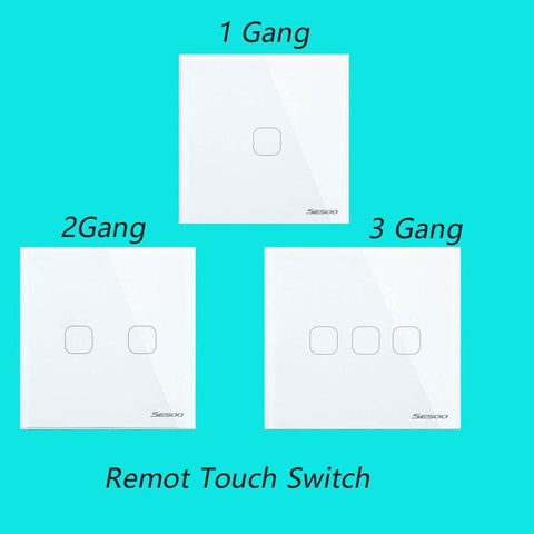 $26.82- Eu Wireless 1 2 3 Gang Wifi Light Switchsmart Home Automation Mobile Remote Control Touch Panel Switch Via Broadlink Rm Pro