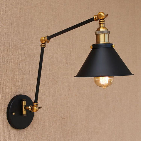 $78.01- Adjustable Long Swing Arm Wall Light Fixture Edison Retro Vintage Wall Lamp Loft Style Industrial Wall Sconce Appliques LED