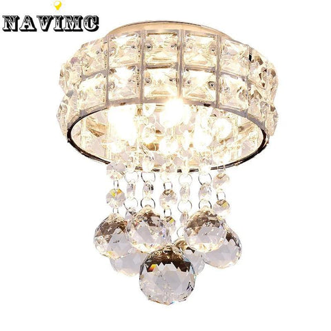 $74.52- Modern Small K9 Crystal Ceiling Lights Porch Light Corridors Led Ceiling Lamp For Bedroom Living Room Entryway Cloakroom