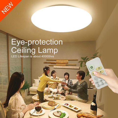 $262.32- Modern Smart Remote Control EyeProtective Led Ceiling Lamp 10Level Dimming Bedroom Living Room Dinning Room Lighting Fixtures
