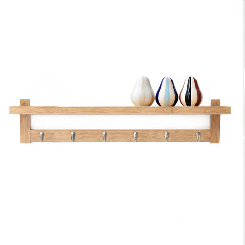 Bamboo Fashion simple hall hook storage rack wall rack shelves coat rack