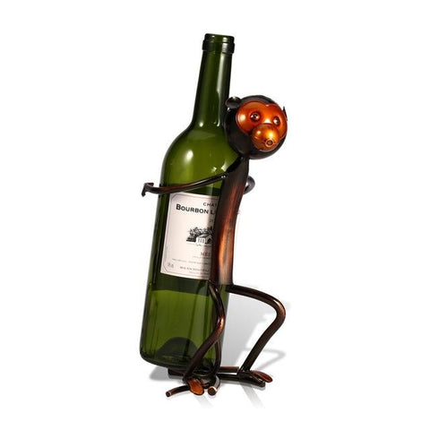 $26.35- Tooarts Monkey Wine Rack Metal Animal Shaped Wine Holder Shelf Sculpture Bottle Holder Kitchen Bar Display Shelf Decoration