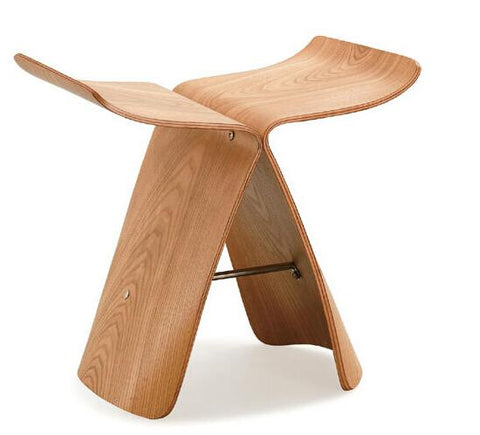Ash Wood Butterfly Stool