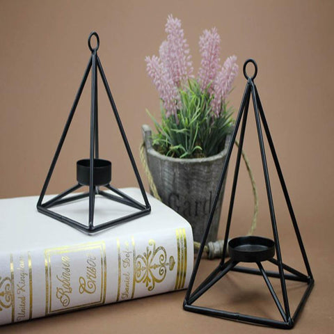 $24.68- Metal Candle Holders Wrought Iron Candle Holder Classic Design Metal Candlesticks Home Decoration Modern Tealight Holder
