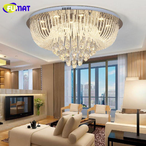 $593.68- Modern Chandelier Ceiling Indoor Light String K9 Crystal Lightings Living Room Bedroom Metal Lustre Cristal Light Fixtures
