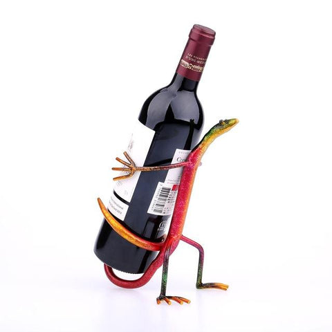 $37.03- Tooarts Gecko Wine Rack Modern Wine Shelf Figurines Metal Sculpture Home Decoration Wine Stand Interior Decoration Crafts Gift