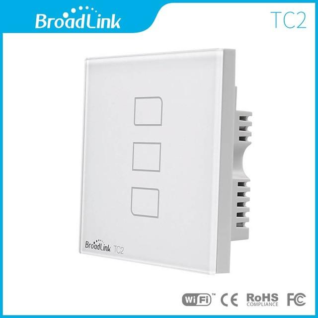 $48.42- Broadlink Tc2 1/2/3 Gang Intelligent Wifi Wall Light Wireless Touch Screen Switch Panel 433Mhz Uk Standard Smart Home Automation