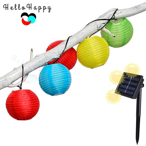 $24.82- Solar Sun Light 20 Leds Outdoor Lantern String Light Solar Sun Lamp Garden Decoration Lampe Luminaria Waterproof Ip55 Solar Sun Powered Lamp