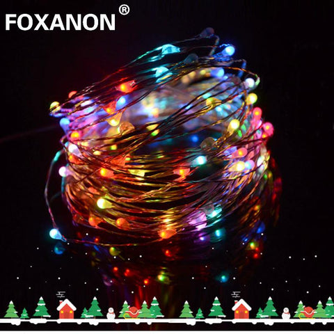 $5.68- Led String 5M 50 Leds Dc12V Rgb Copper Operated Fairy Lights Ip65 Wire Christmas Strip Holiday Lamp Wedding Party Xmas Lights