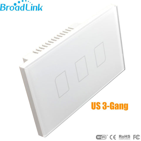 Brand New Us Broadlink Tc2 3-Gang Mobile Wireless Remote Control Light Switch Smart Home Automation Shipping 12003350
