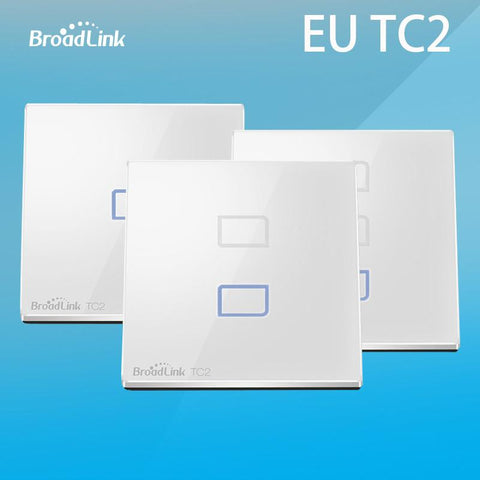 Broadlink Tc2 Eu 1/2/3 Gang Wall Light Touch Screen Wifi Switch Rf Ios roid Remote Control Intelligent Smart Home Automation