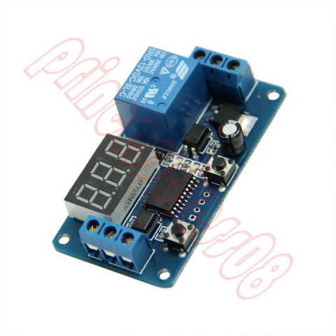 12V Home Automation Delay Timer Control Switch Module Digital Display Led