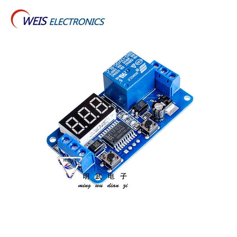 10Pcs 12V Led Home Automation Electrical Equipment Delay Timer Control Switch Relay Module Digital Display