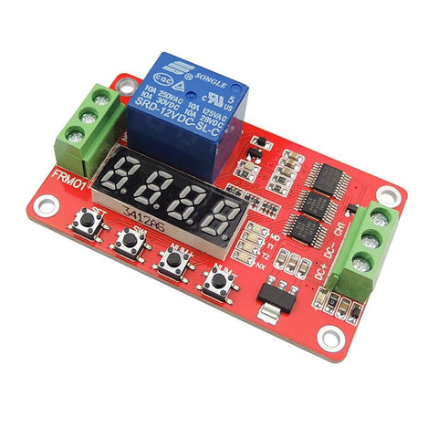 12V Multifunctional Relay Module Plc Delay Timer Switch SelfLock Home Automation