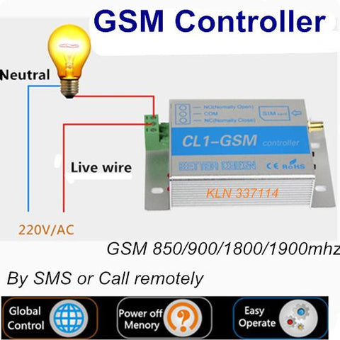 Gsm Wireless Switch Relay Interruptor Call Sms Remote Control On Off Smart Home Automation Lightingrolling Doorswater Pump.