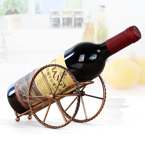 $15.96- Handmade Plating Wine Racks Home Kitchen Bar Accessories Practical Wine Holder Wine Bottles Decor Display Shelf Racks