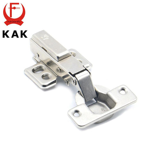 $4.52- KAK Hinge Rustless Iron Hydraulic Hinge Iron Core Damper Buffer Cabinet Cupboard Door Hinges Soft Close Furniture Hardware