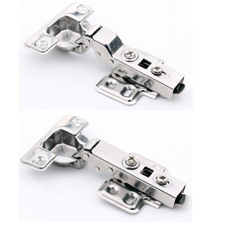 $24.46- 4 pcs/Lot Stainless Steel Softclose Cabinet Door Hinge with Hydraulic Buffer Removable Detachable Cup/Base