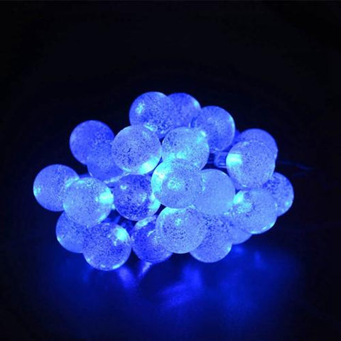 $27.58- Solar Sun Lamps 7.5M 30Leds Crystal Ball Luz Waterproof Colorful Warm White Fairy Light Garden Decoration Outdoor Solar Sun Led String