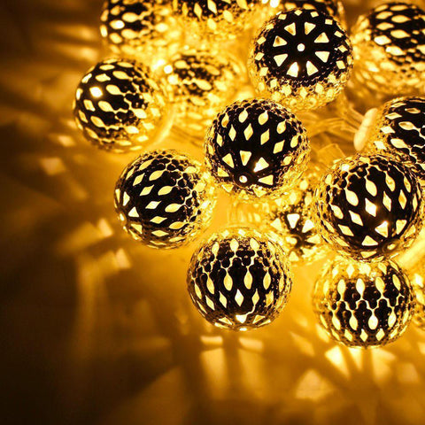 $28.10- 3M 10Leds Solar Sun Led String Ball Lights Waterproof Outdoor Christmas Party Wedding Romantic Decoration Lighting Lamp