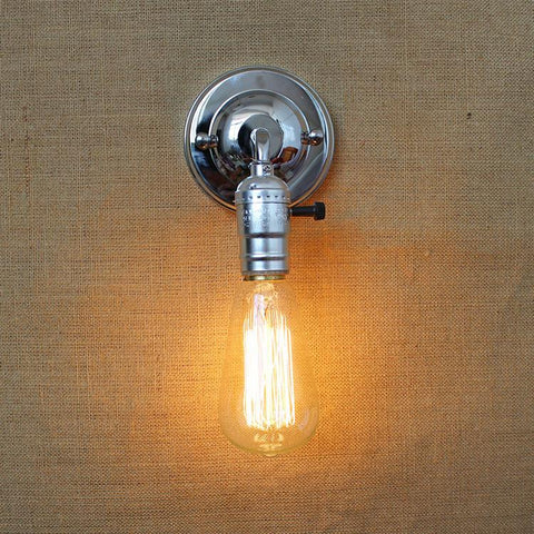 $16.25- Newest Wall Lamp Mini Loft Vintage Adjustable E27 Edison Bulb Industrial Style Wall Lighting Diy Deco Light Fixtures