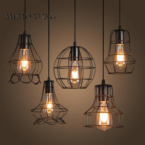 New Loft Iron Pendant Light Vintage Industrial Lighting Bar Cafe Bedroom Restaurant Nordic Country Style Iron Hanging Light