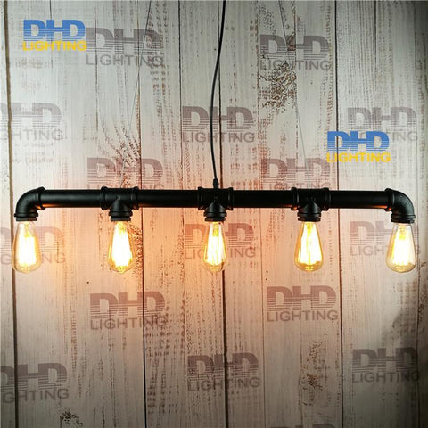 $149.60- Loft Vintage Edison Pendant Lights Personalized Bar Lighting Industrial Vintage Water Pipe Pendant Lamp E27 Black/Antique Lamps