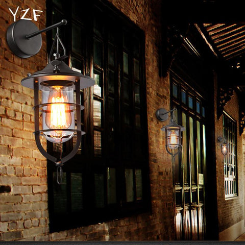 $73.03- YZF New E27 Designer American country industrial wind droplight Restore ancient ways iron restaurant creative personality