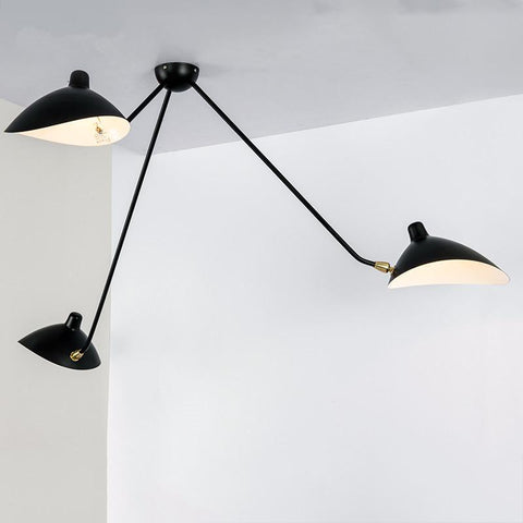 $210.97- Modern Home Black 3 Head Living Room Mouille Ceiling Light Bedroom Duckbilled Light Dining Room Light