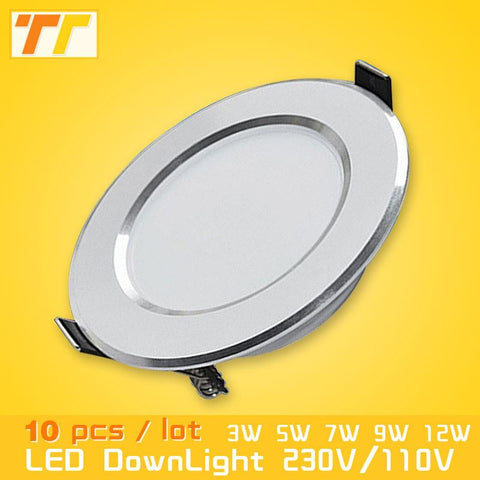 10Pcs/Lot Led Downlights Led 1W 3W 5W 7W 9W 12W 15W Downlight 2835Chip Lamps Lights Led Ceiling Lamp Home Indoor Lighting