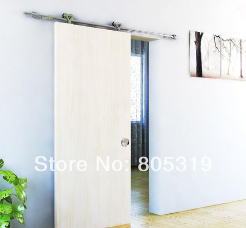$328.35- Double Roller Wooden Sliding Solid Barn Door Hardware KitSatin Finish