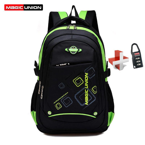 $37.78- Magic Union Children School Bags Waterproof Children Backpack In Primary School Backpacks Mochila Infantil Zip W/ Lock