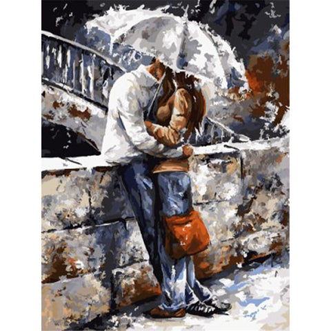 $15.45- Ween Romantic Figure Picture Painting By Numbers Diy Handpainted Wall Art For Living Room Modern Decoration Picture Artwork