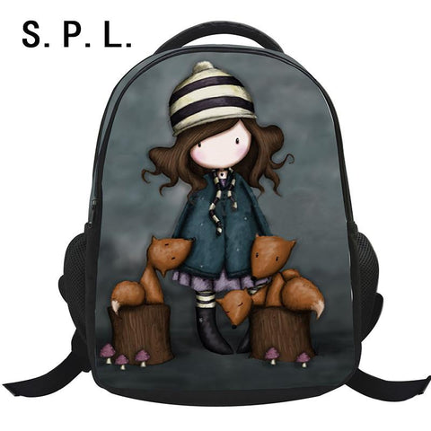$33.73- S.P.L School Bag Backpack Polyester Lovely Cartoon Casual Girl Student Bag Mochila Escolar Children Bag For Shcool