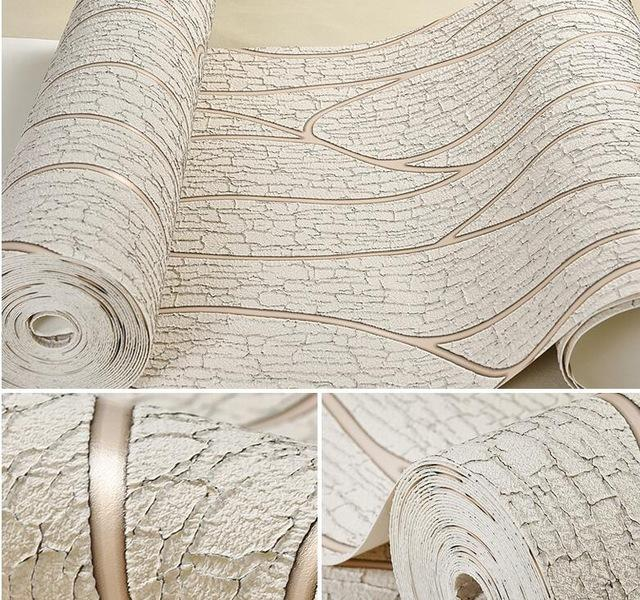$84.55- Beibehang Deerskin Line Papel De Parede 3D Flocking Wallpaper For Bedroom Living Room Home Decoration 3D Wall Paper Roll Palace
