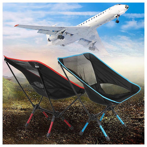 Portable Mini Folding Beach Chair 4 Colors Blue Orange Red Sky Blue 7075 Aerospace Aluminum 800D Oxford Cloth Load 150Kg Durable