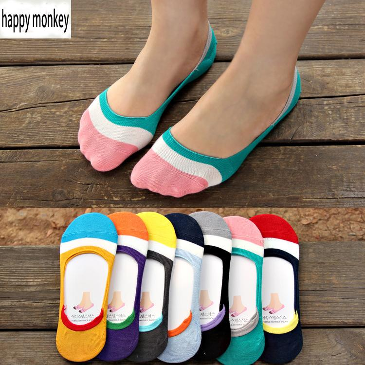 $12.18- 2016 10 Pieces=5 Pairs New Spring Summer Silicone Invisible AntiSkid Socks Women Socks Female Summer Invisible Ankle Socks