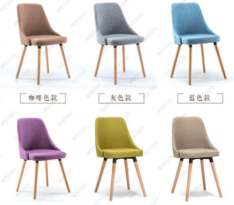 $510.00- 2 Pcs Eat Chair Of Solid Wood Chair. Contemporary Contracted Recreational Chair. Fabric Chairs.