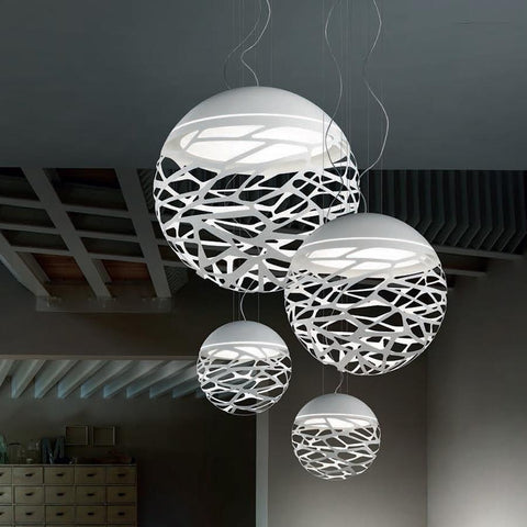 $132.07- Modern Led Pendant Lamp White Black Painting Metal Pendant Light for Stair Dinning Living Room Hanging Lighting